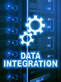 Data integration information technology concept on server room background.  royalty free stock photos