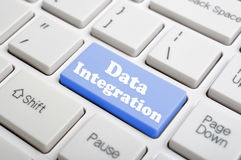 Data integration key on keyboard Stock Photos