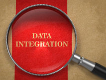 Data Integration - Magnifying Glass. Stock Image