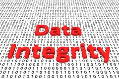 Data integrity. In the form of binary code, 3D illustration Royalty Free Stock Photography