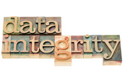 Data integrity in wood type Stock Images