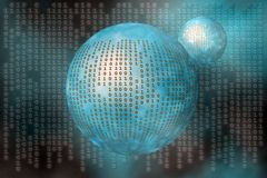 Data, the internet. A free interpretation of data transfers over the internet, matrix like Stock Photos