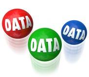 Data Juggling Information Technology Database 3 Balls Royalty Free Stock Image