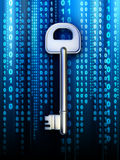 Data key. A key to access some digital content. Digital illustration stock illustration