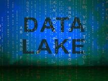 Free Data Lake Digital Datacenter Cloud 2d Illustration Royalty Free Stock Images - 126965069