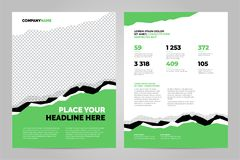 Data Layout template design vector illustration