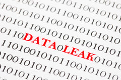 Data Leak Binary Code Royalty Free Stock Images