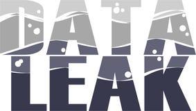 Data Leak Word conceptual Illustration. Stock Images