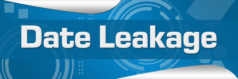 Data Leakage Blue Abstract Background Horizontal Stock Photography