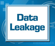 Data leakage Blue Abstract Background Square. Data leakage text written over abstract blue background Stock Image