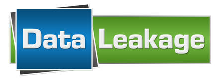 Data Leakage Green Blue Horizontal. Data leakage text written over green blue background Stock Photo