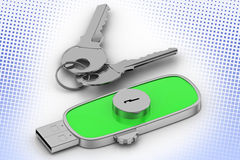 Data Lock drive and  Keys In Halftone Background Stock Photos