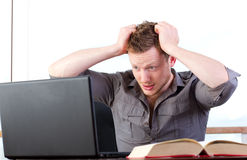 Data Loss - Stressed out student royalty free stock photo