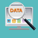 Data magnify Royalty Free Stock Photo
