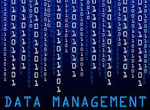 Data management. Analyzing and managing a huge data collection (image also usable with text cropped out Stock Image