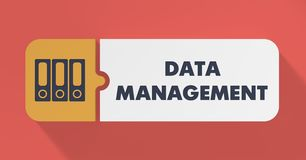 Data Management Concept in Flat Design. Royalty Free Stock Photos
