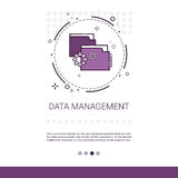 Data Management Content Marketing Web Banner With Copy Space. Vector Illustration royalty free illustration