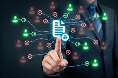 Data management and privacy Royalty Free Stock Photos