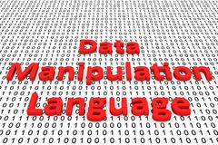 Data manipulation language. In the form of binary code, 3D illustration Royalty Free Stock Photography