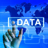 Data Map Displays an International or Worldwide Database Royalty Free Stock Image