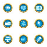Data material icons set, flat style. Data material icons set. Flat set of 9 data material vector icons for web isolated on white background Royalty Free Stock Photos