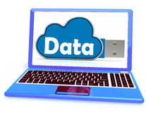 Data Memory Shows Backing Up To Cloud Storage Stock Image