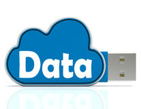 Data Memory Stick Shows Backing Up To Cloud. Data Memory Stick Showing Backing Up To Cloud Storage Stock Photo