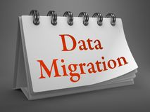 Data Migration Concept on Desktop Calendar. Royalty Free Stock Photo