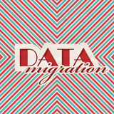 Data Migration Concept on Striped Background. Royalty Free Stock Image