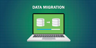 Free Data Migration In Computer Stock Image - 62072761