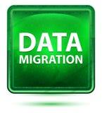 Data Migration Neon Light Green Square Button vector illustration