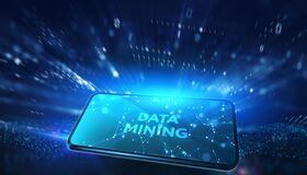 Free Data Mining Concept. Business, Modern Technology, Internet And Networking Concept Stock Photography - 188098872