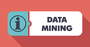 Data Mining Concept in Flat Design. Stock Photos