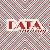 Data Mining Concept in Flat Design. Royalty Free Stock Images
