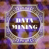 Data Mining Concept. Vintage design. Royalty Free Stock Image