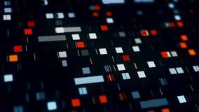 Data mining, fondo commovente sottratto dei quadrati illustrazione di stock
