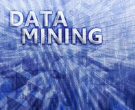 Data mining illustration Royalty Free Stock Image