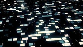 Data mining, quadrati commoventi illustrazione vettoriale