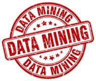 Data mining red stamp Stock Photo