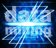 Data Mining Represents Examine Knowledge And Researching Stock Photo