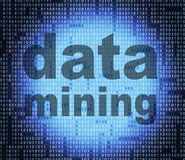 Data Mining Represents Study Facts And Investigate Royalty Free Stock Photos
