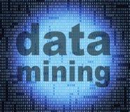 Data - Mining stellt Studien-Tatsachen dar und forscht nach lizenzfreie abbildung