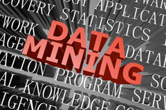 Data mining word cloud Royalty Free Stock Image