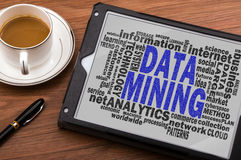 Data mining word cloud Stock Image