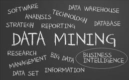 Data - Mining-Wortwolke stockfotografie