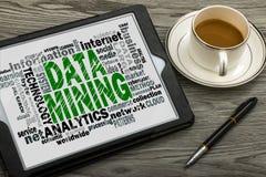 Data - Mining-Wortwolke Lizenzfreie Stockfotografie