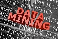 Data - Mining-Wortwolke Lizenzfreies Stockbild