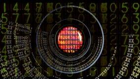 Data och dator som programmerar information royaltyfri illustrationer