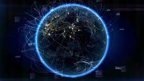 Data och globala kommunikationer vektor illustrationer