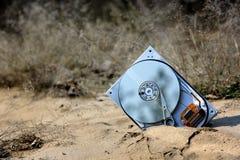 Data och sand arkivfoto